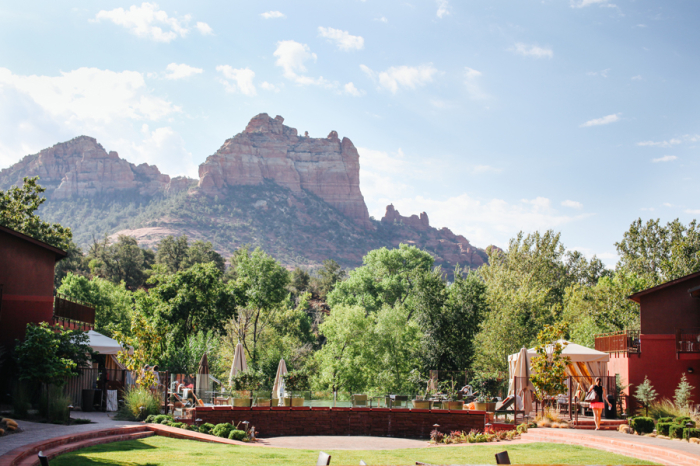 Views from the Amara Resort in Sedona Arizona