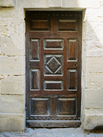 Wood Door in Uzes France