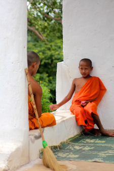 Young Buddhist Monks in Laos