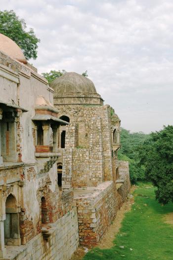Ancient Islamic Ruins of Hauz Khas Village New Dehli