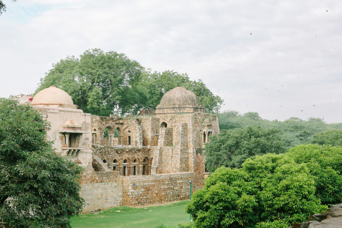 Ancient Ruins in Hauz Khas Village New Dehli