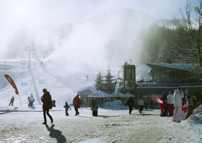 Base of Blackcomb in Whistler British Columbia
