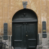 Black Doors and Rusty Exterior in Copenhagen Denmark