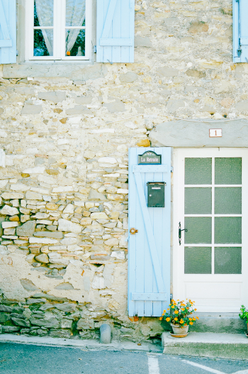 Blue Shutters in Ventenac en Minervois France