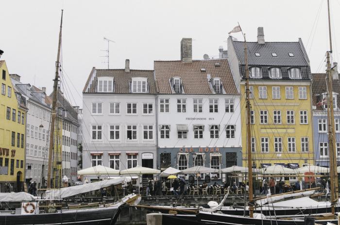 Boats in the Nyhavn of Copenhagen