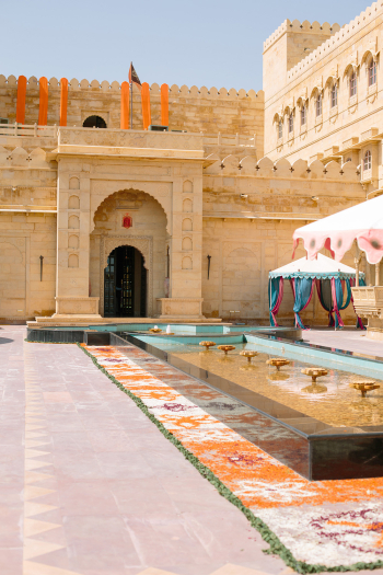 Bright Colors at Suryagarh Palace in India