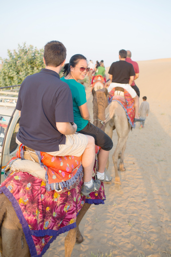 Camel Ride at Lalhmana Sand Dunes in India