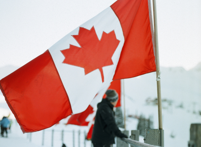 Canadian Flag in Whistler British Columbia