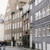 Coblestone Street in Copenhagen Denmark