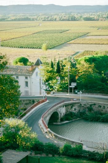 Countryside of Ventenac en Minervois France