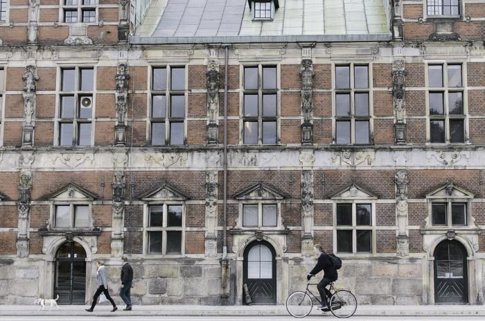 Cyclist in Copenhagen Denmark