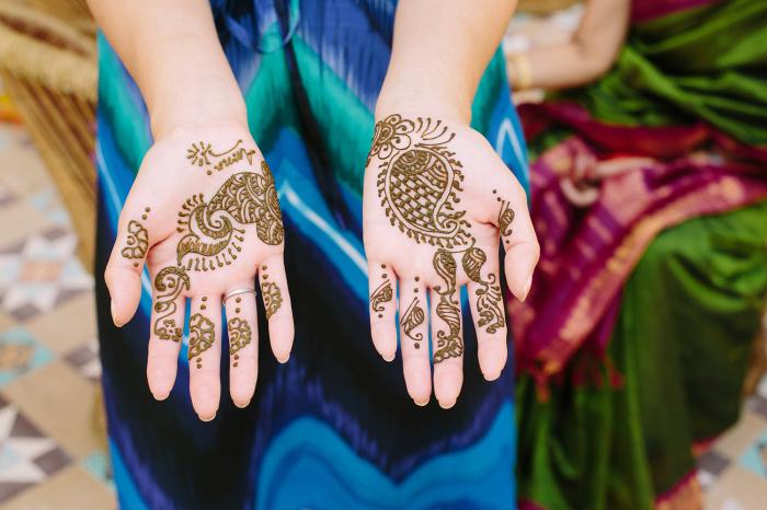 Henna Tattoo in Suryagarh Palace in India