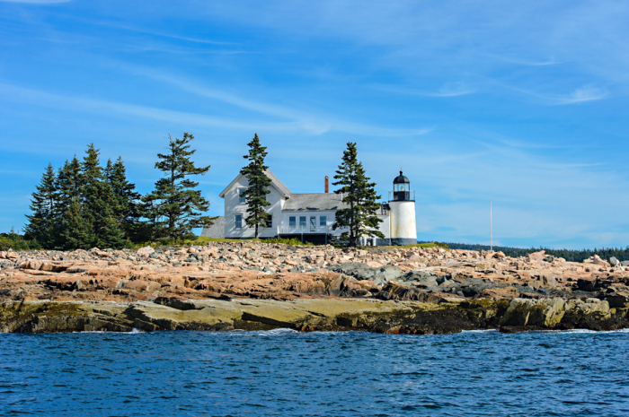 Lighthouse at Winter Harbor Maine
