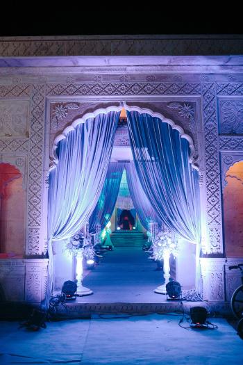 Night Lighting at Suryagarh Palace in India