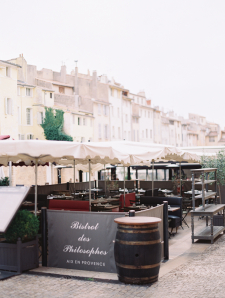 Outdoor Seating at Bistrot des Philosophes in Aix en Provence