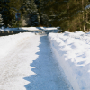 Plowed Roads and Snow Banks in Whistler British Columbia