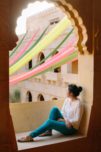 Relaxing at Suryagarh Palace in India