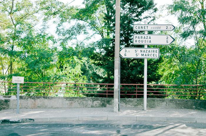 Road Signs in Ventenac en Minervois France