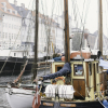 Sailboats at the Nyhavn in Copenhagen
