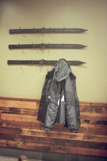 Ski Coat Rack in Whistler British Columbia