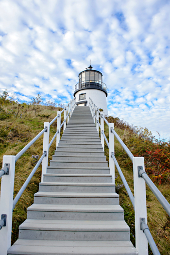Stairs to Owls Head Lighthouse