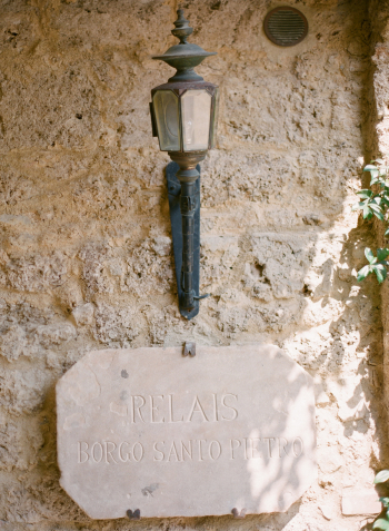 Stone Sign at the Borgo Santo Pietro