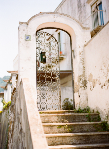Stone Steps and an Iron Gate in Positano Italy