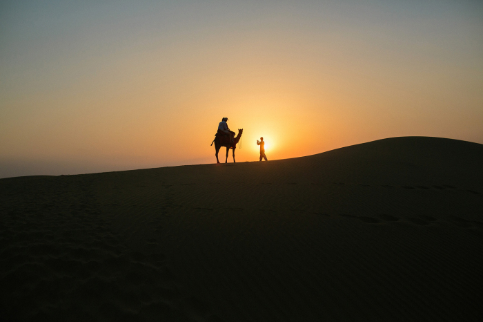 Sunset at Lalhmana Sand Dunes in India