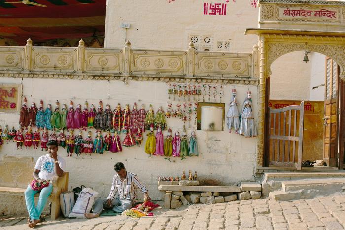 Vendors at Jaisalmer Fort in India