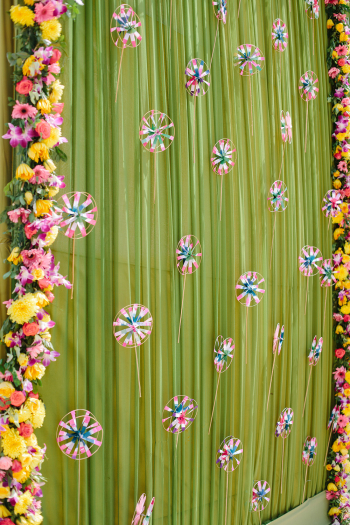 Wall Flower Installation at Suryagarh Palace in India