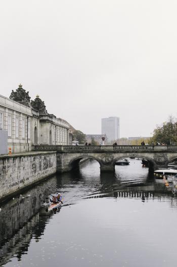Waterway in Copenhagen Denmark