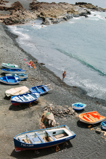 Boats on the Beach in Lanzarote Spain