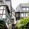 Busy Street in Rudesheim Germany