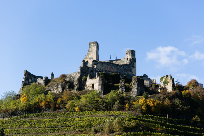 Durnstein Castle in Wachau Valley Austria