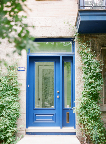 Blue Door in Montreal Canada