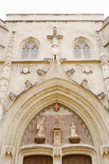 Detail at Saint Agricola Church in Avignon France