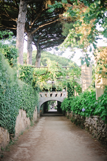 Foot Bridge in Villa Cimbrone in Ravello Italy