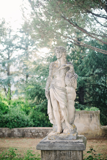 Garden Sculpture at the Villa Cimbrone of Ravello Italy