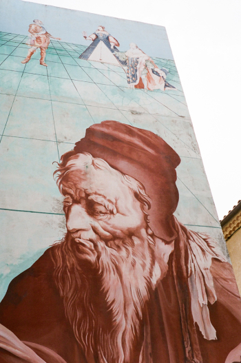 Large Street Mural in Salon de Provence France