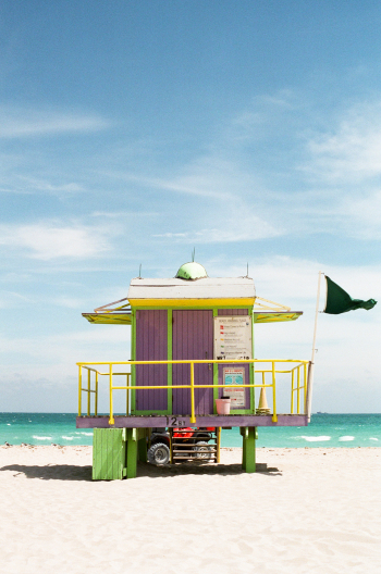 Lifeguard Stand in Miami Beach