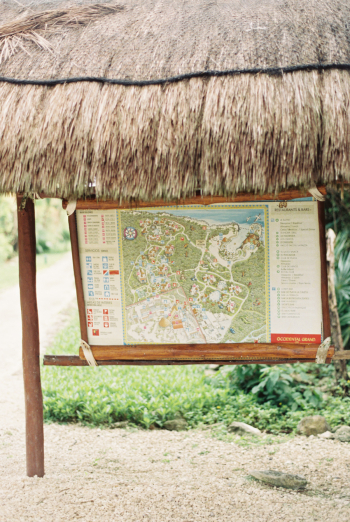 Map of the Occidental Grand Xcaret in Playa del Carmen Mexico
