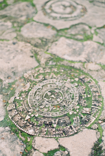 Mayan Calendar at Cenote Xkeken in Mexico