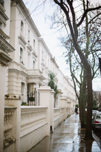 Rainy Streets in London England