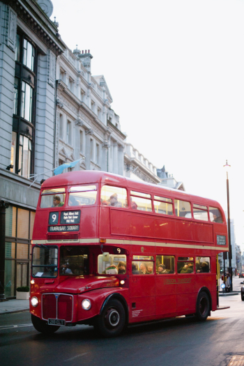 Red Double Decker Bus in London England