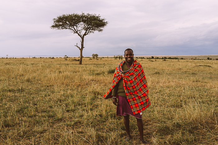 Safari Guide at the Masai Mara Game Reserve in Kenya