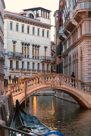 Stone Foot Bridge in Venice Italy