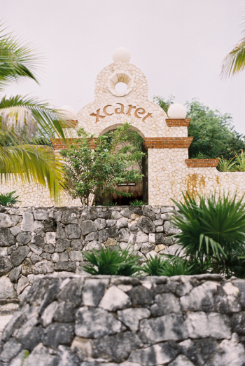 Stone Wall at the Occidental Grand Xcaret in Playa del Carmen