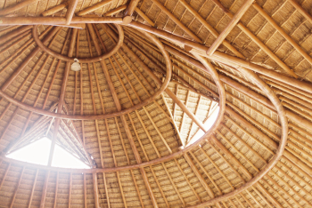 Thatched Roof at the Occidental Grand Xcaret in Playa del Carmen Mexico