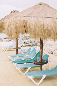 Thatched Umbrellas at the Occidental Grand Xcaret in Playa del Carmen