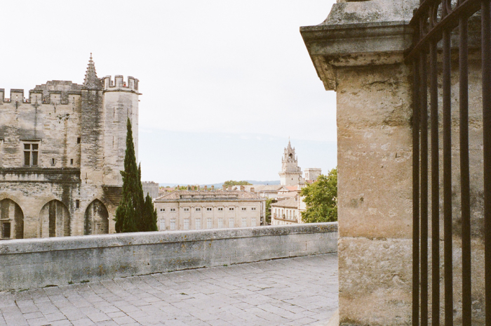 View from the Saint Agricola Church in Avignon France